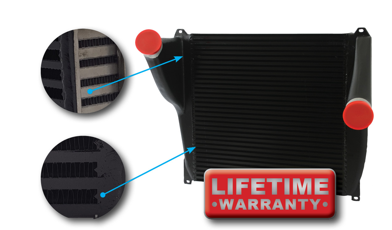 bar and plate charge air cooler