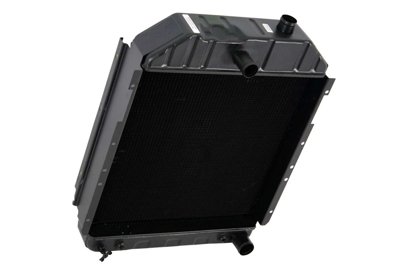 Ford New Holland Radiator With Oil Cooler Angled View.