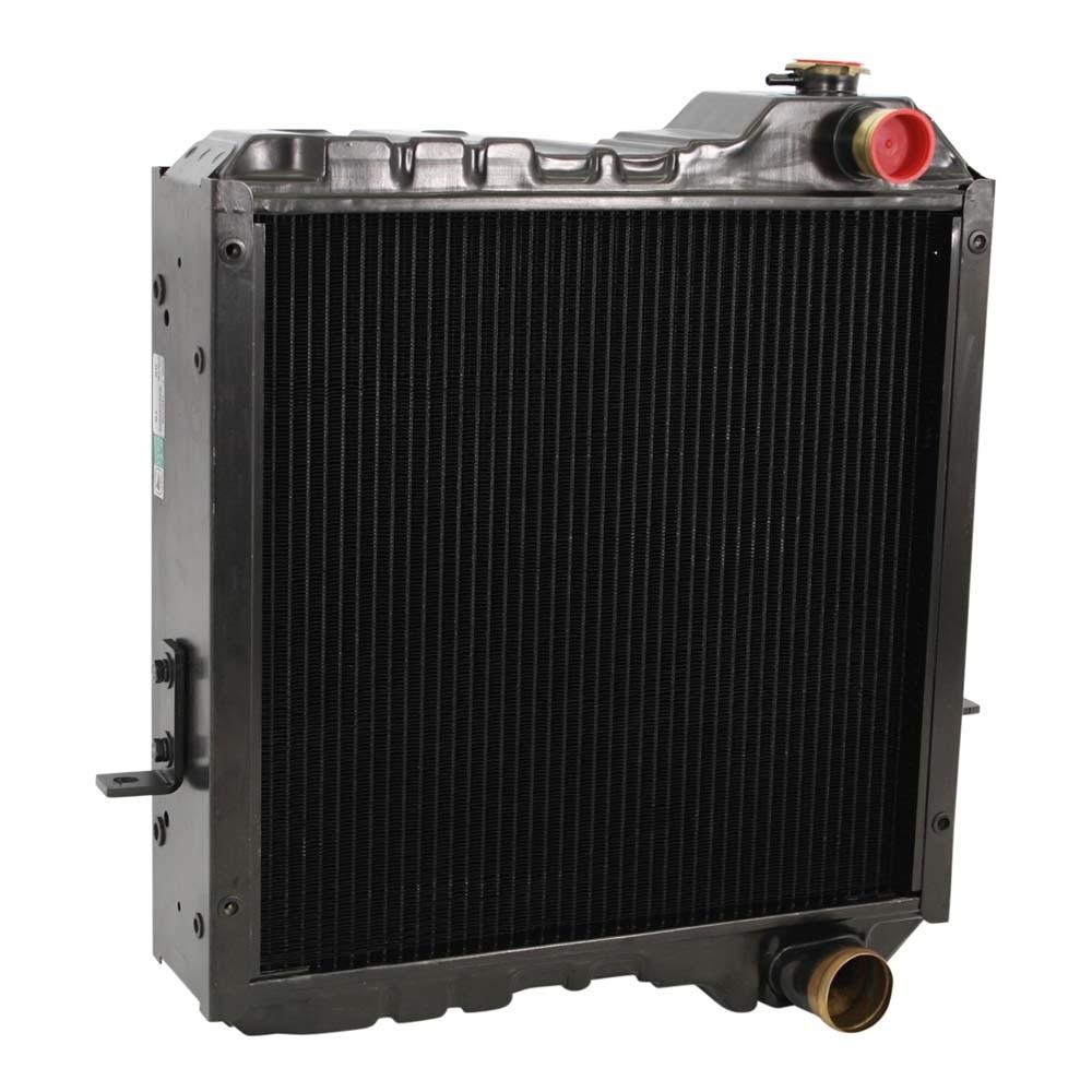 Case IH New Holland Radiator No Oil Cooler Angled View.