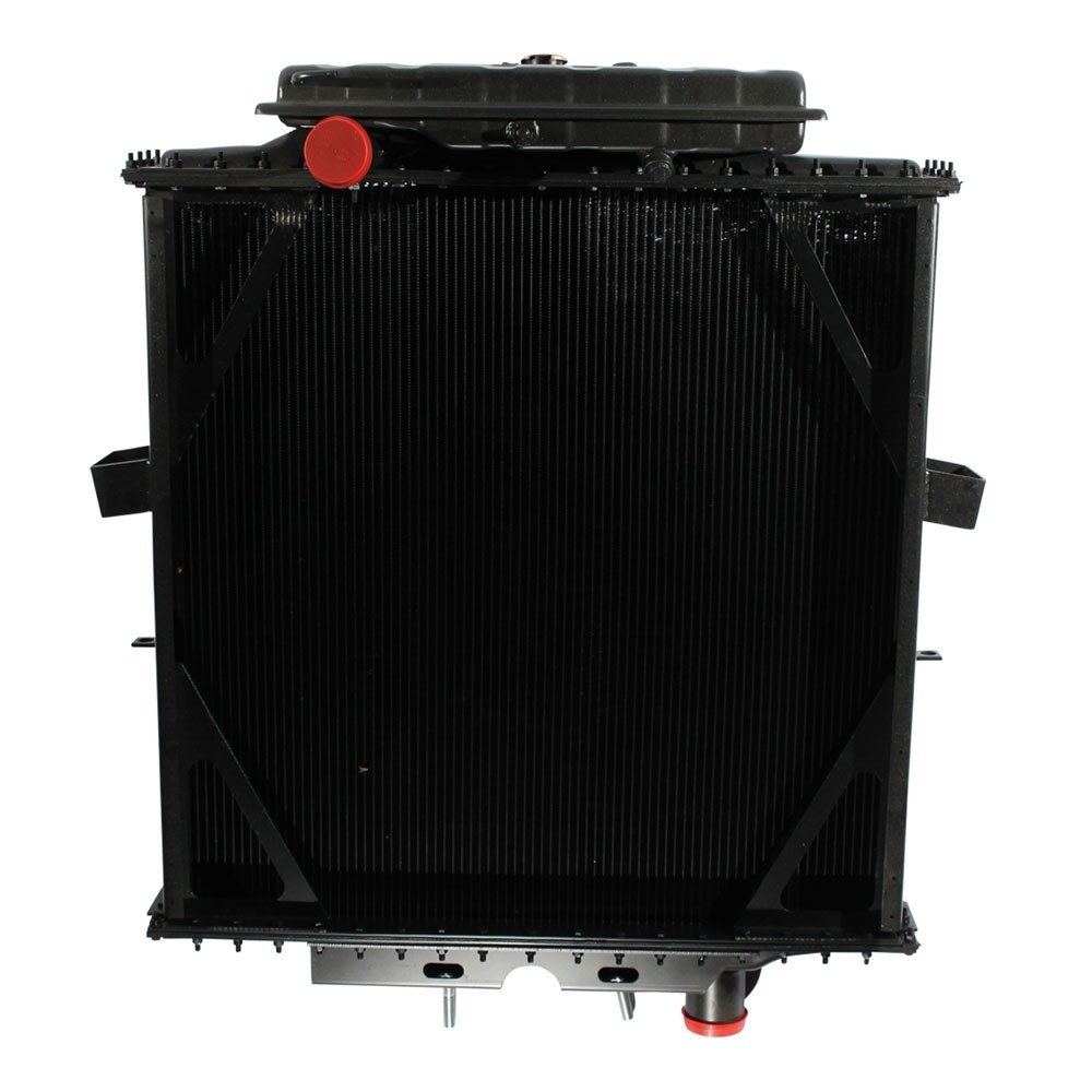 Peterbilt 4 Row Dimple Tube Radiator With Surge Tank Front View.
