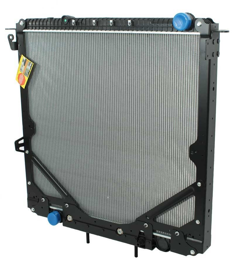 Freightliner Radiator With Frame 2012 & Newer Cascadia Angled View.