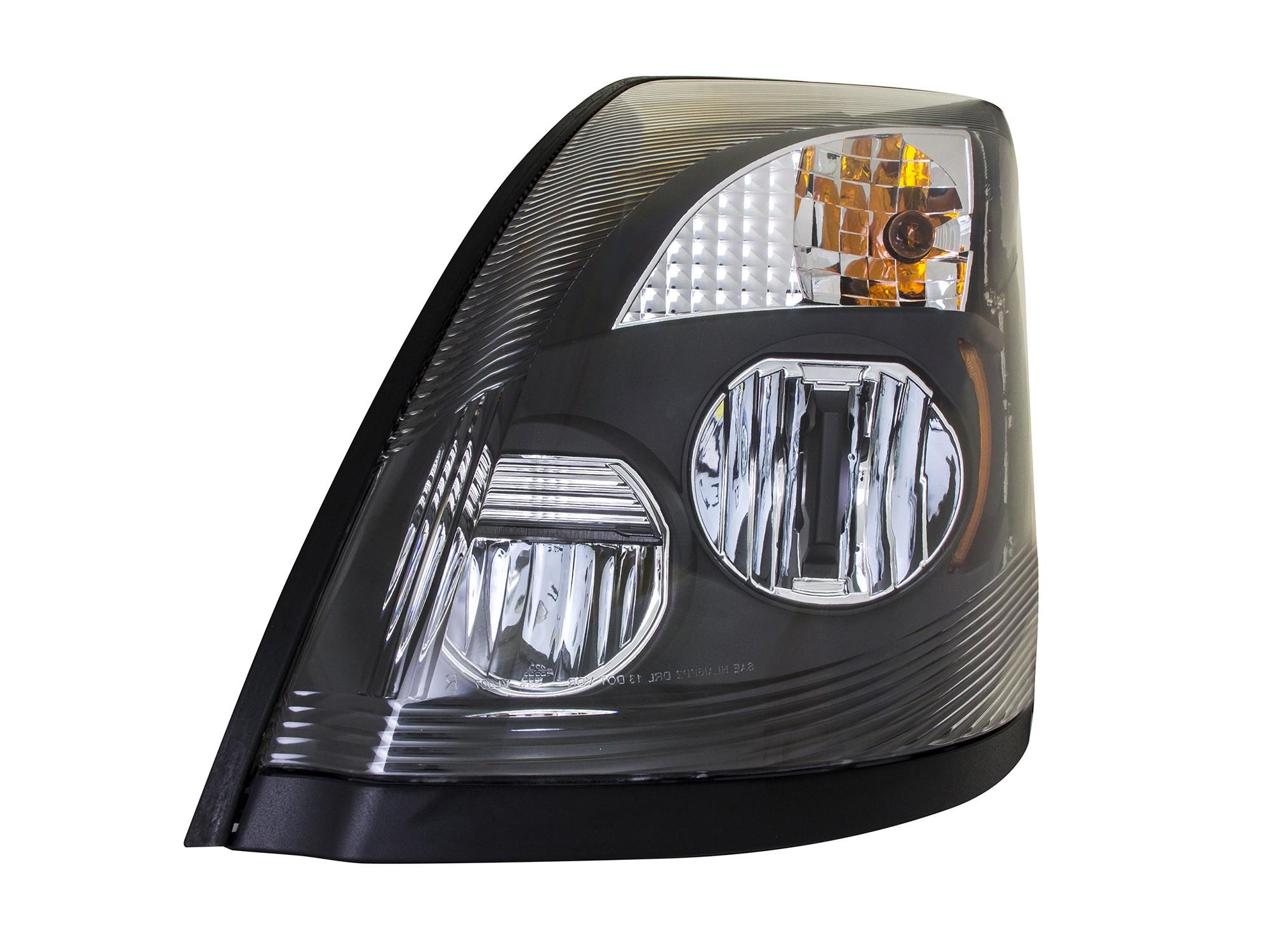 2015 2016 Volvo VNL Headlight LED Front View.