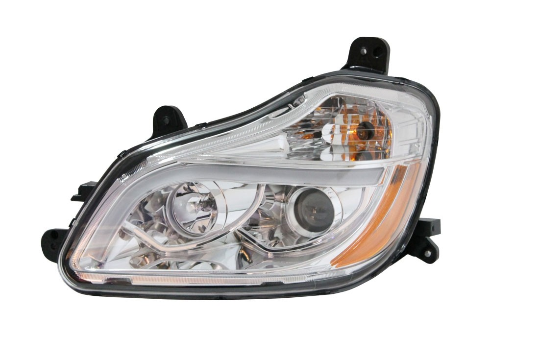 Kenworth T680 LED Headlights 2015 Model Year Driver Side View.