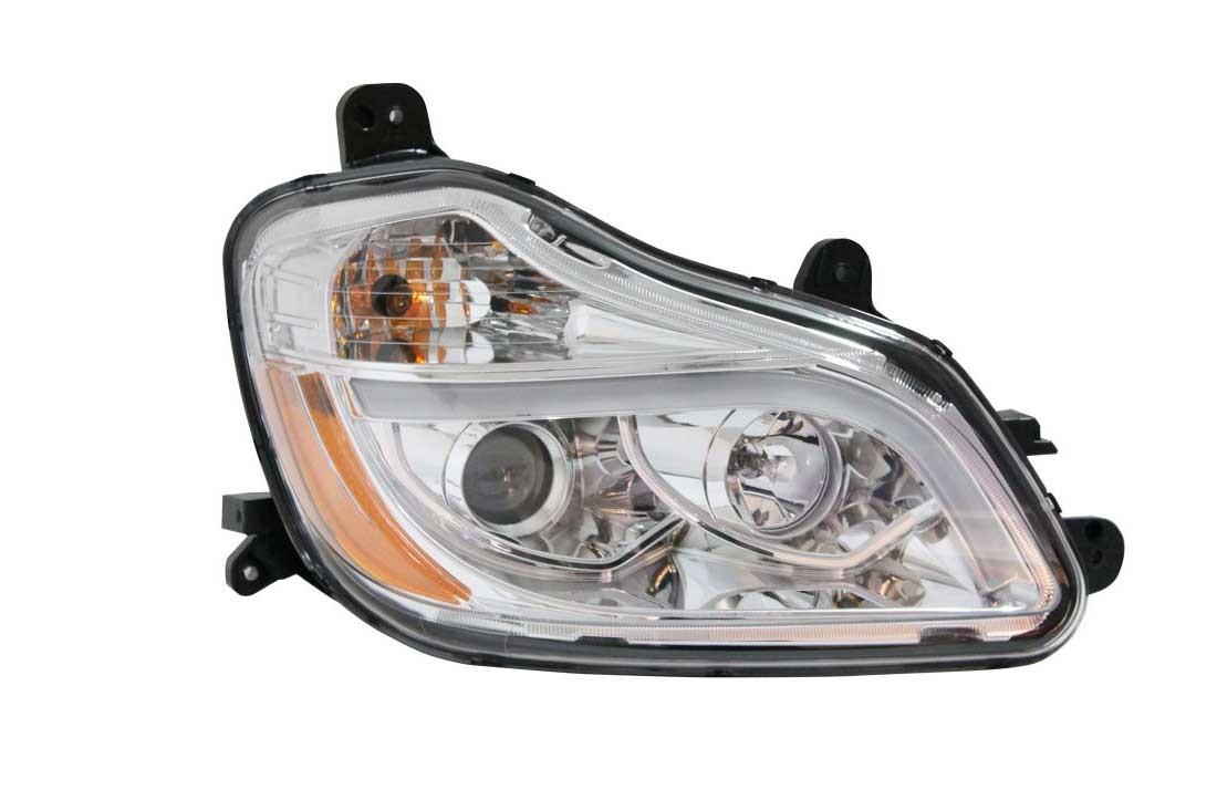 Kenworth T680 LED Headlight 2015 Passenger Side View.
