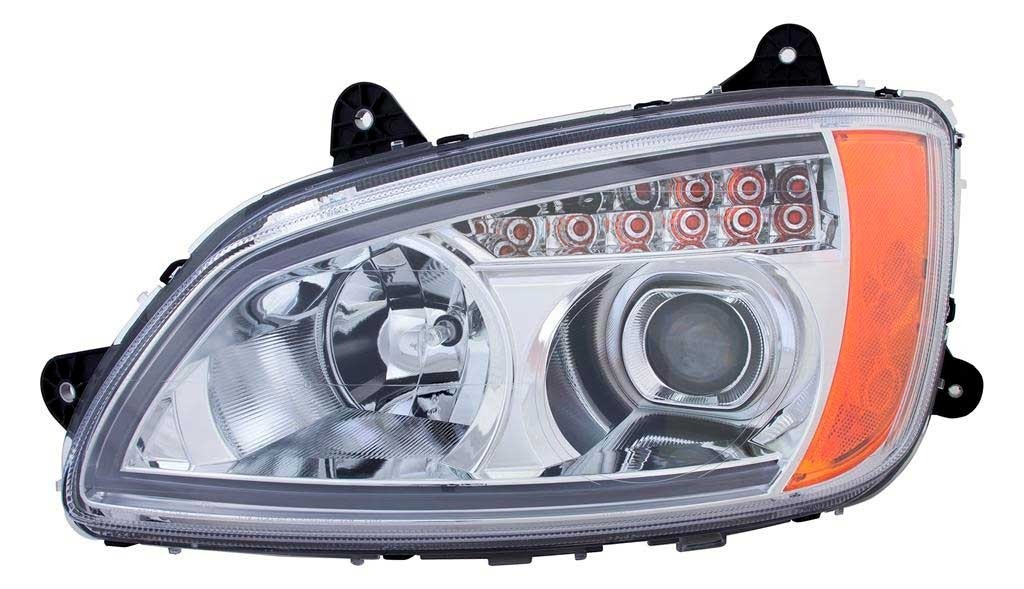 Kenworth T660 LED Bar Headlight Assembly Driver Side View.