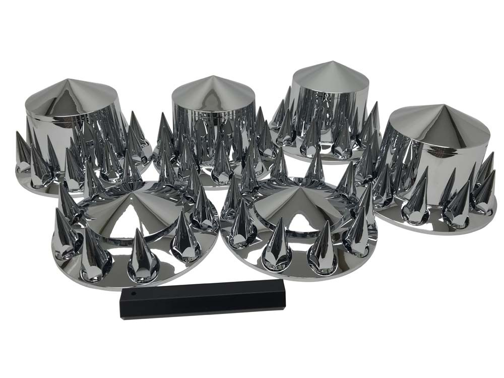 Spiked Lug Nut Cover Complete Wheel Cover Kit.