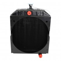 AGCO Allis Chalmers D17 Gas LP Radiator Front View.
