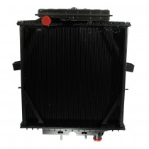 Peterbilt 3 Row Bolt Together Radiator With Surge Tank Front View.