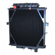 Peterbilt Four Row Bolt Together Radiator With Surge Tank Front.