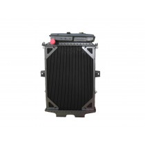 Kenworth W900L 4 Row Bolt Together Radiator With Surge Tank Front View.
