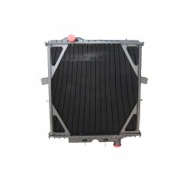 Peterbilt 357 377 379 Series Radiator With Surge Tank on Firewall Front View.