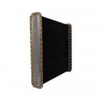 Freightliner Heavy Duty Dimpled Tube Radiator Core View.