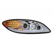 International Prostar LED Chrome Housing Driver Side View.