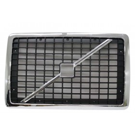 Volvo VNL Black & Chrome Grille with Bug Screen | 20505759
