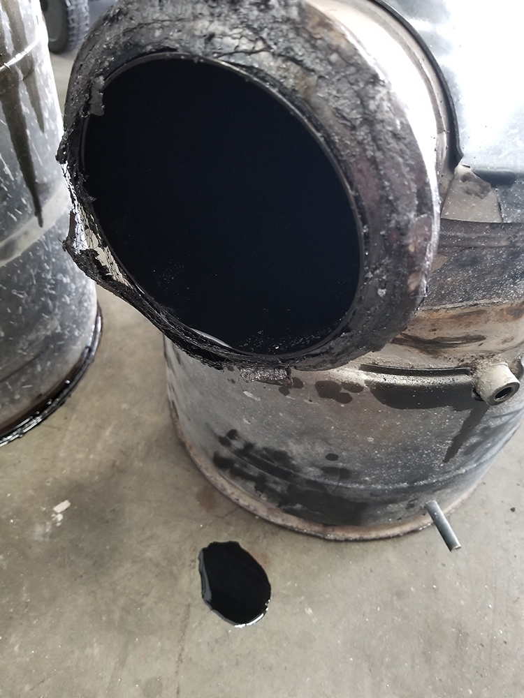 oil soaked dpf cleaning des moines