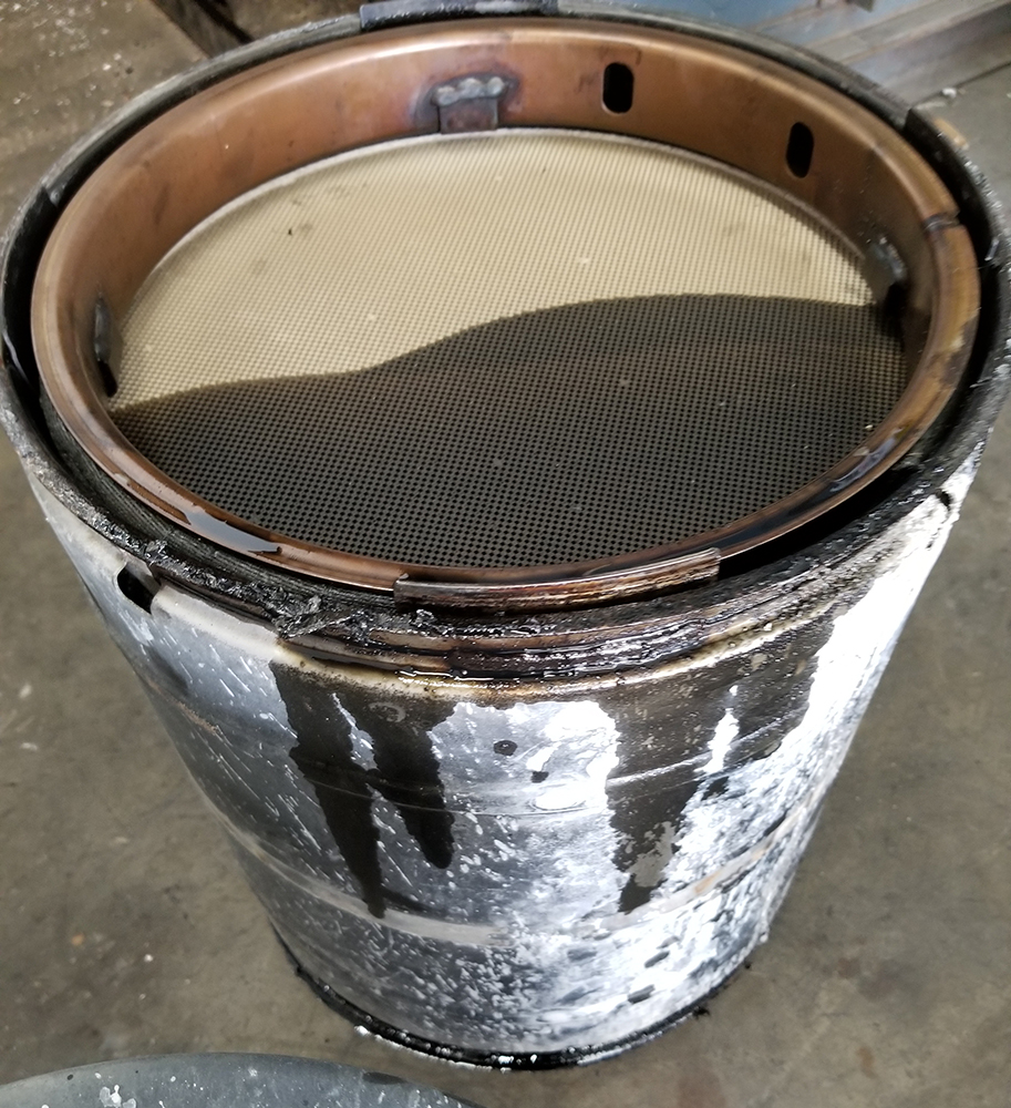 oil soaked dpf cleaning